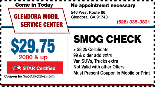 Smog Check Coupon Glendora